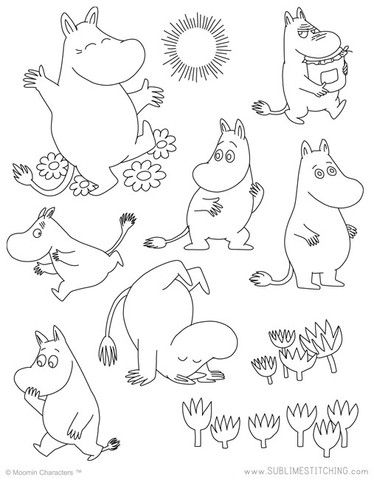 MOOMIN / Moomintroll - Embroidery Patterns