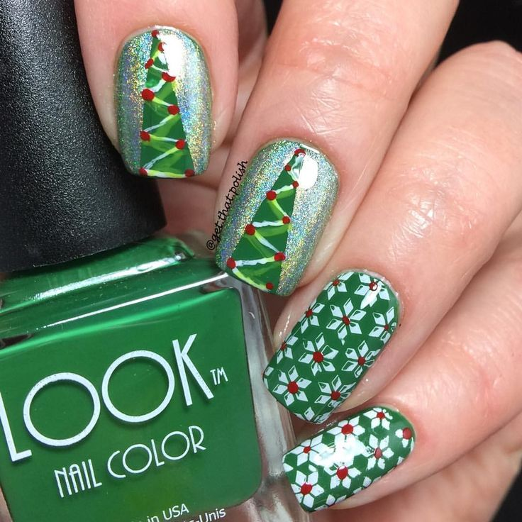 The 2532 best Nails - Christmas images on Pinterest | Nail scissors ...