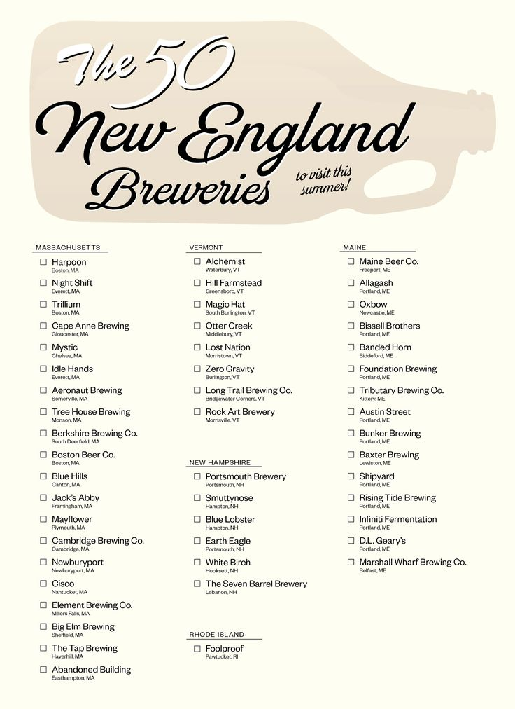 The 50 New England Breweries to Visit This Summer