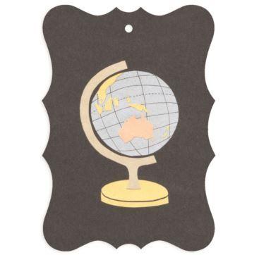 Gift tag - Globe - Bobangles #SundayPaper #Australia #gift #tag #globe #world