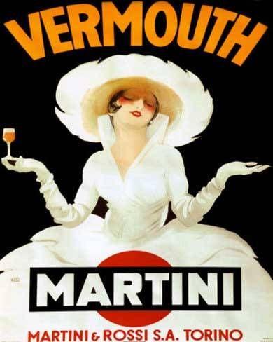 Vermouth Martini | Vintage food & drink poster | Retro advert #Vintage #Retro #Posters #Affiches #Food #Drinks #Carteles #deFharo #Ads