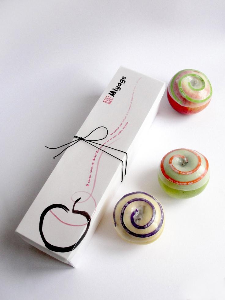 Les pommes Miyage, des pommes à offrir de Laure-Anne Caillaud / food design, design culinaire