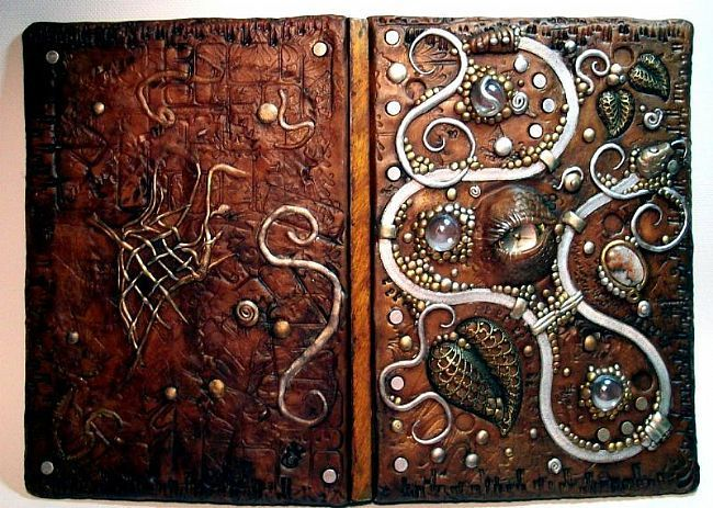 Steampunk journal: Journals Covers, Clay Inspiration, Steampunk Dragon, Art Journals, Dragon Eye, Decor Journals, Clay Decor, Polymer Clay, Journals Steampunk