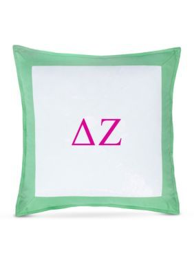 Southern Tide  Chino  Delta Zeta Decorative Pillow - Kiwi - 16 X 16