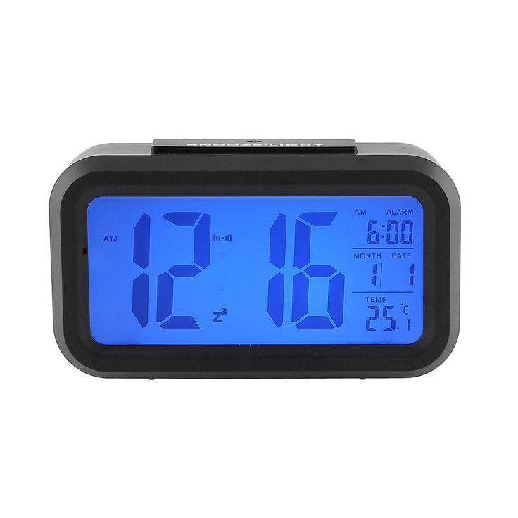 CasaNet Orologio da Tavolo, Con Sensore di Tocco, a LED Digitale, di Retroilluminazione Multifunzioni Sveglia Tempo Data Termometro, A Forma di Rettangolare