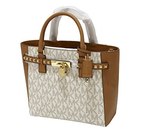 1a1c4f2af727 nice Michael Kors Women's Hamilton Traveler STUDDED Large TOTE Leather  Handbag