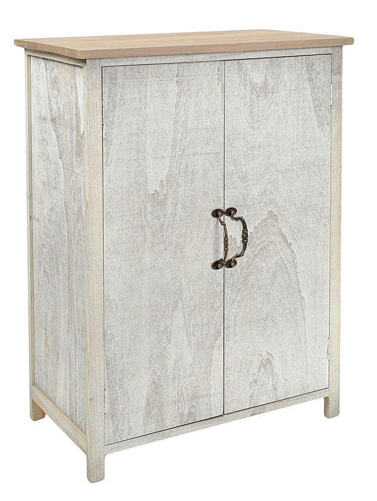 Cómoda en estilo rústico alquería, estantería, armario en shabby blanco gris: Amazon.es: Hogar