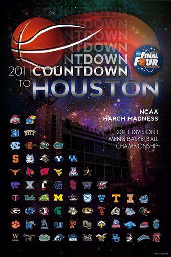 2011 NCAA Final Four Countdown to Houston Print Poster (24 x 36)