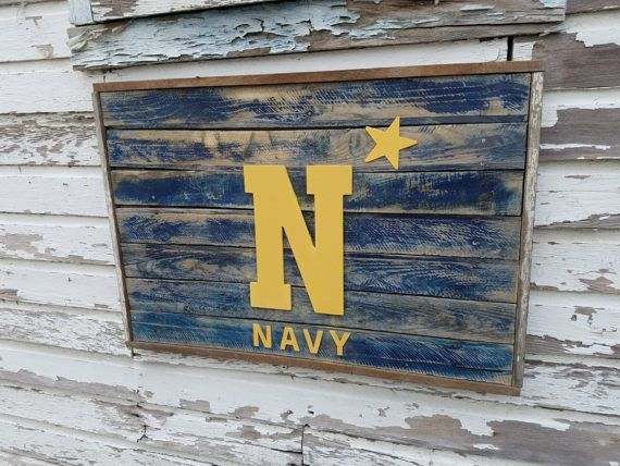 US Naval Academy, Navy Reclaimed Wood Sign