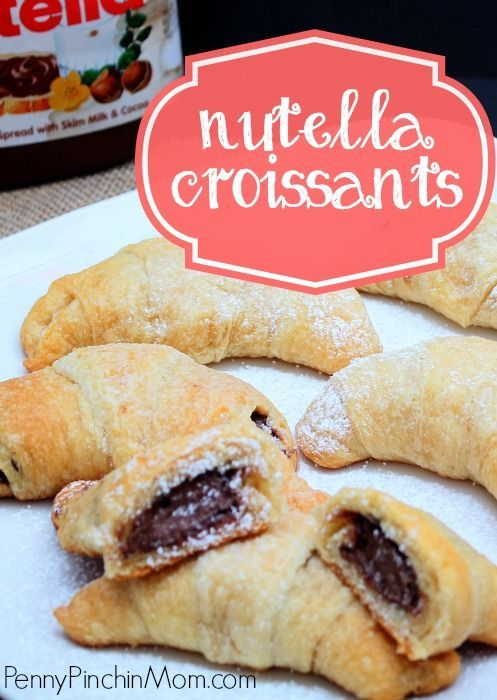 Nutella croissants --- my new favorite breakfast!!!