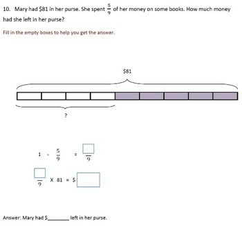 Fractions Worksheets, 4th Grade, 5th Grade - Multiplying Fractions ...