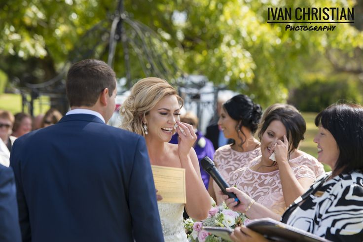 The brides cries with joy - Ivan Christian Photography