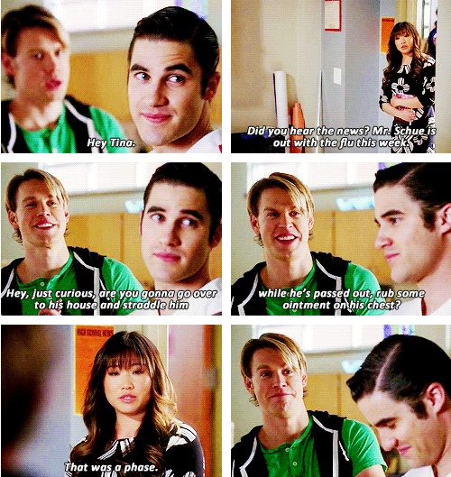 Tina. You should've known your crush on Blaine would come back to haunt you…