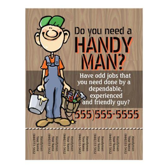 Carpenter Handyman Plumber Painter Earn Money Flyer   Zazzle.com