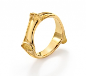 Oak 'I'll Always Remember' 18ct yellow gold vermeil classic ring
