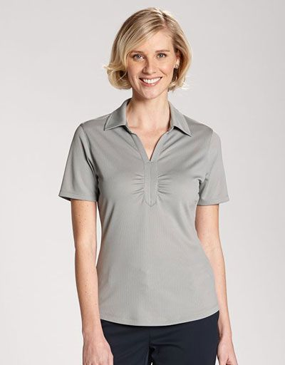 Find stylish golf outfits in #lorisgolfshoppe : Cutter & Buck Ladies & Plus Size Short Sleeve DryTec™ Glendale Golf Shirt
