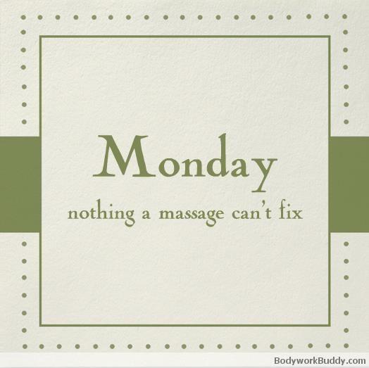 monday massage