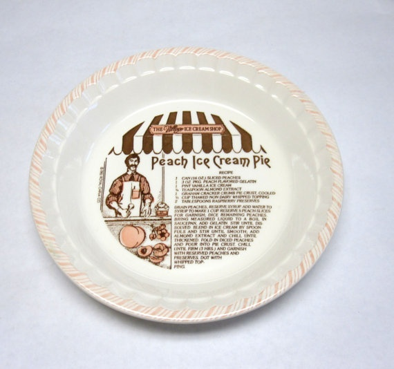 Peach Ice Cream Pie Plate & 25+ best Pie Plates images by Cindy Robinson on Pinterest | Dish ...