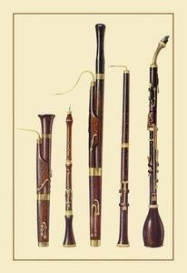 Dolciano Oboe da Caccia Oboe Basset Horn and Bassoon.  If you've never heard one of these instruments featured, better put it on your bucket list.  #music #woodwindPaper Posters, Posters Prints, Music Instruments, Oboe Da, Bassoon, Art Prints, Dolciano, Da Caccia, Basset Horns