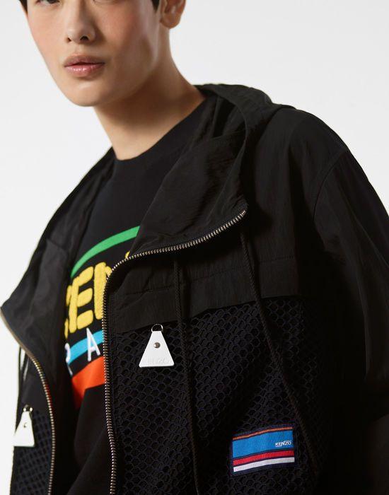 2ec64eee Kenzo Coats Mens Black Hooded 'Hyper Kenzo' Parka | Kenzo Coats Mens ...