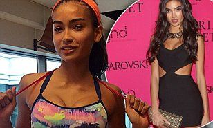 Kelly Gale flaunts taut physique in multi-coloured crop top #DailyMail