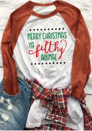 christmas letter printed trendy t shirt