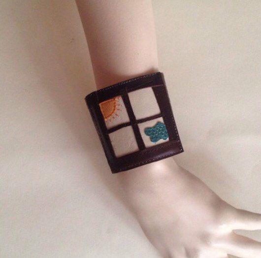 A personal favorite from my Etsy shop https://www.etsy.com/listing/482126913/window-braceletcuff-leather-bracelets