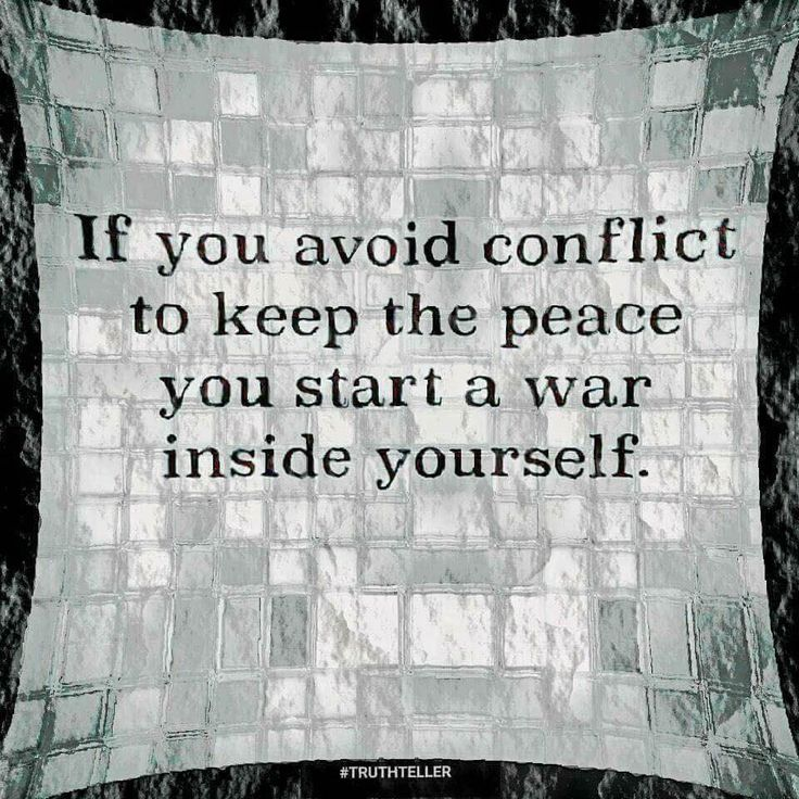 To keep the peace, conflict is necessary