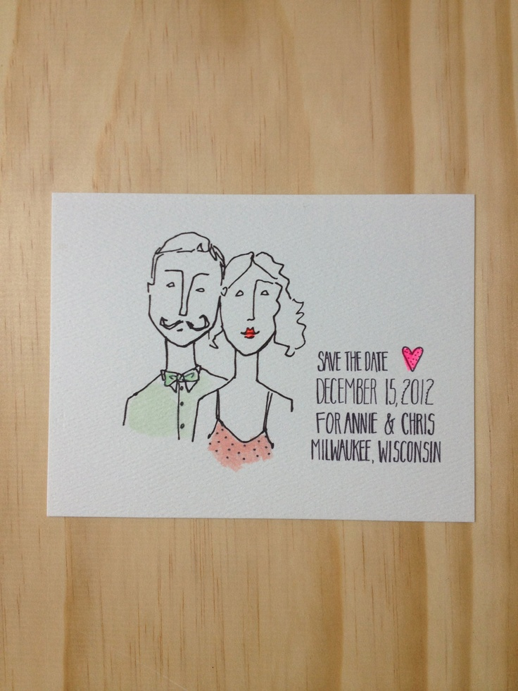 funny personal wedding card matter%0A Custom portrait cards for save the date  invites and thank yous