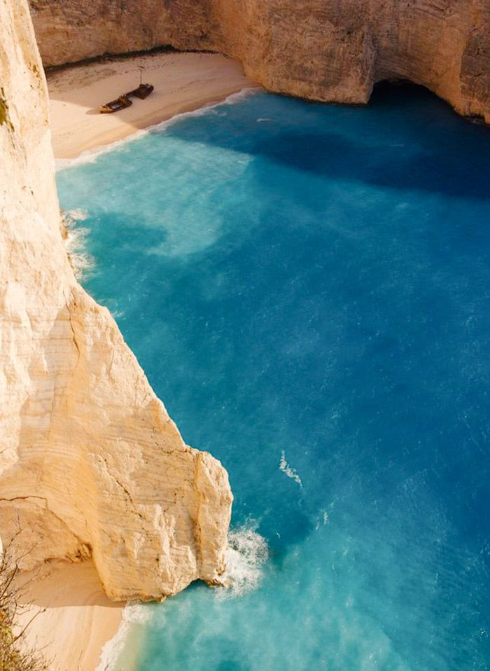 Navagio beach from mykonos