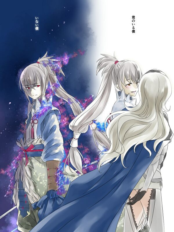 Takumi and Corrin from Fire Emblem: Fates. (Conquest Route)