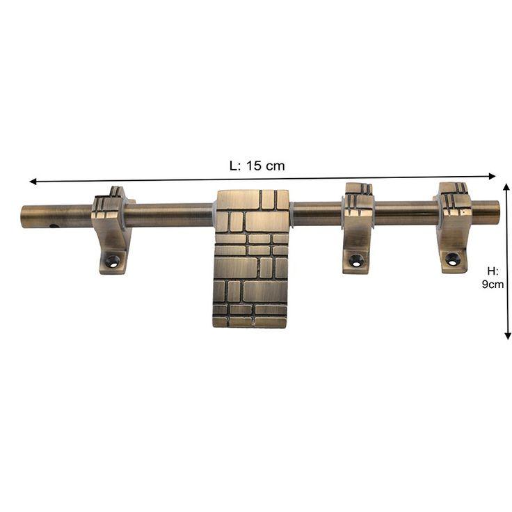 Klaxon MARVEL Brass Latch (Antique Finish, 10 Inch)
