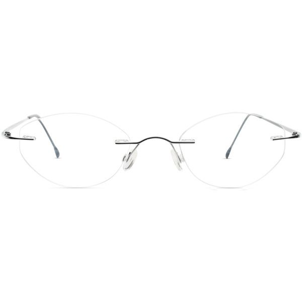 GlassesUSA Fredrick Silver ($108) ❤ liked on Polyvore featuring accessories, eyewear, silver, sports glasses, silver glasses, rimless glasses, rounded glasses and sport glasses