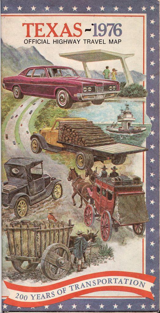 Texas Road Map Texas Pinterest