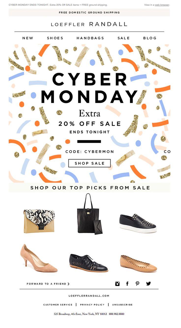 Loeffler Randall - Beautiful Cyber Monday Email Newsletter Design.