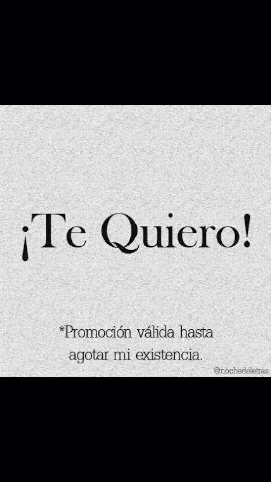 ¡Te Quiero! #frases #Amor