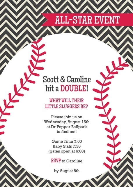 Twin Gender Reveal Invitations is luxury invitations design