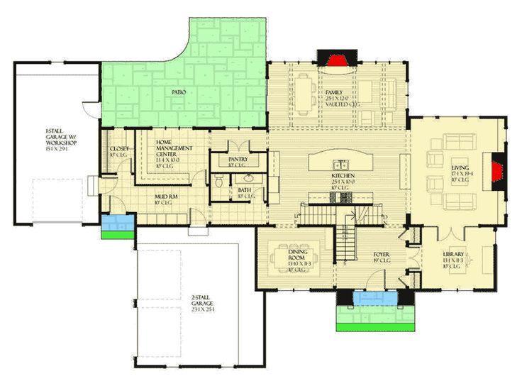 1165 best house plans images on pinterest architecture for House plans with hearth room