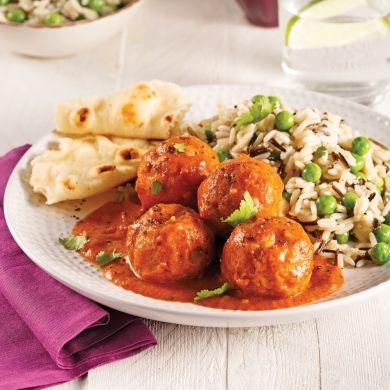 Boulettes de poulet, sauce au beurre - Soupers de semaine - Recettes 5-15 - Recettes express 5/15 - Pratico Pratique