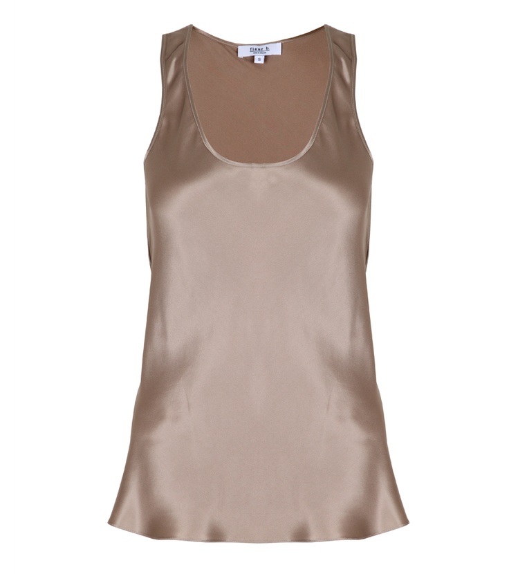 fleur b. The Silk Vest Taupe. Available online at www.fleurb.co.uk