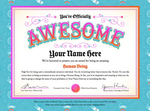 20 best images about certificates on pinterest award for Certificate of awesomeness template