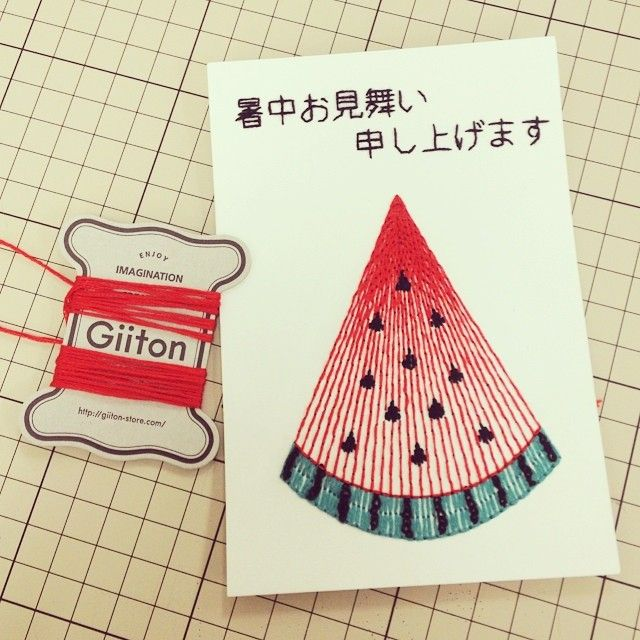 """@giiton's photo: """"PAPER EMBROIDERY FOR THE SUMMER GREETINGS*"""""""