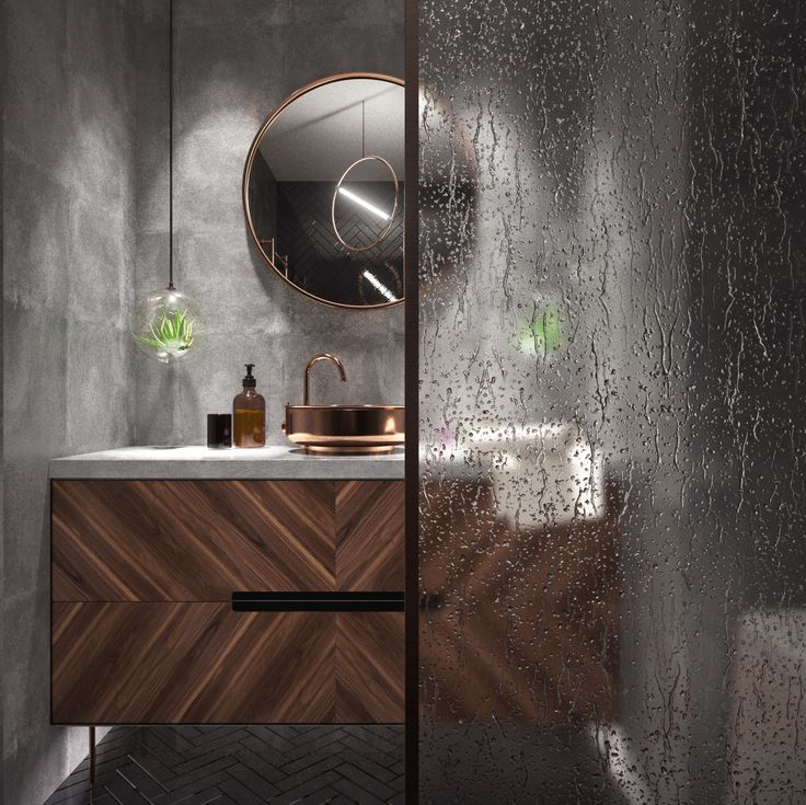 Raw Elegant Bathroom 5m² #concrete #architecture #interiordesign #interior  #design #wood