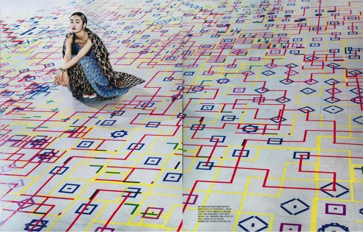Experiment 4.1, 2013. Briony Barr. Image: Vogue Korea, December 2013 // installation