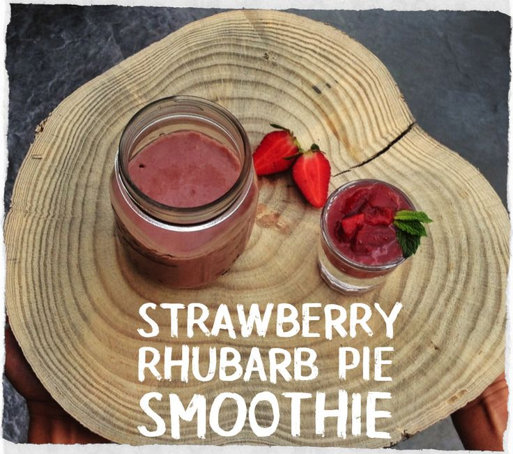 Strawberry rhubarb pie, Rhubarb pie and Smoothie on Pinterest