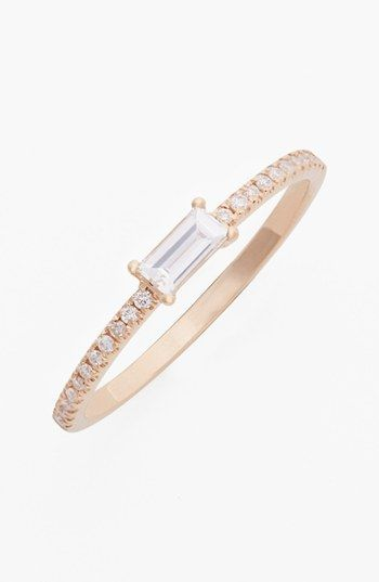 Bony Levy 'Stackable' Baguette Diamond Ring (Nordstrom Exclusive) available at #Nordstrom