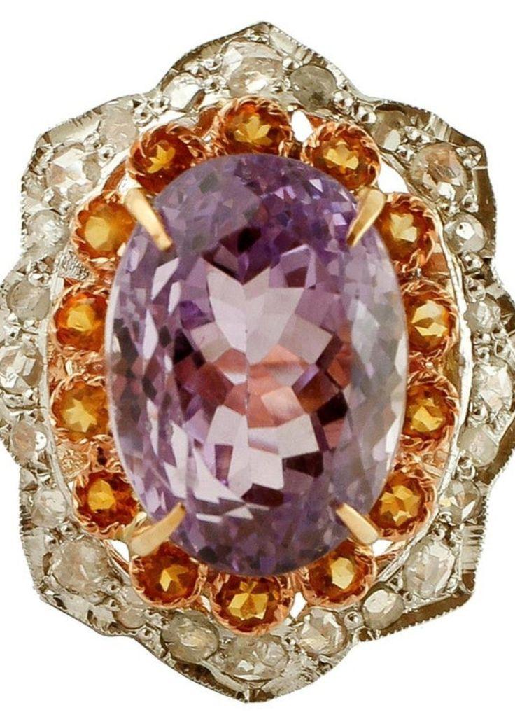 Star Amethyst Ring Anelli, Rings