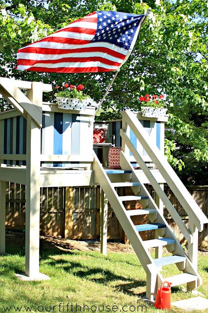 MUST see DIY kids playhouse/clubhouse @Carmel Keane (@ Our Fifth House) Phillips . I want one of these for me!