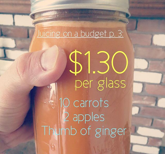 Juicing on a Budget Recipe 3. When looking at these, consider how much you would spend on a typical gas station beverage – Arizona iced tea, soda, energy drinks, etc. Just think – for a similar price, you could be blessing your body with nutrient-dense juice made from God's green Earth!