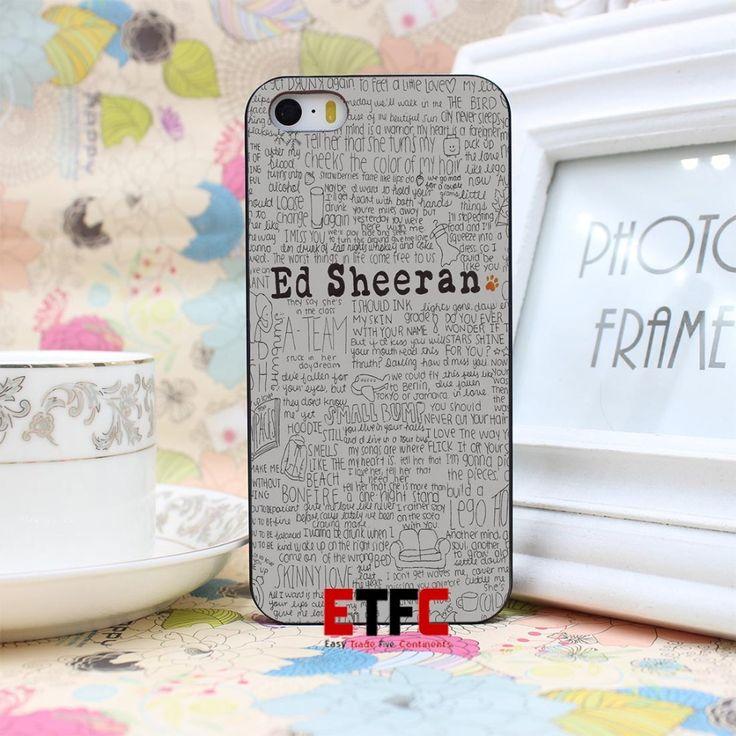 Эд ширан ETFC-123 Дизайн Жесткий Черный Кожа Случае Крышка для iphone 4 4s 4g 5 5s 5 г